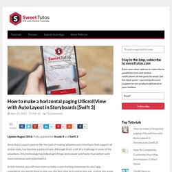 How to make a horizontal paging UIScrollView with Auto Layout in Storyboards [Swift 3]