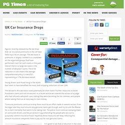 UK Car Insurance Drops - PG Times