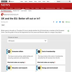 UK and the EU: Better off out or in? - BBC News