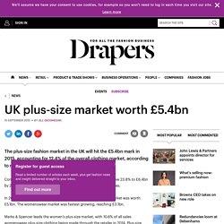 UK plus-size market worth £5.4bn
