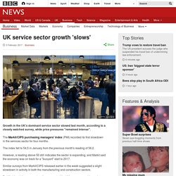 UK service sector growth 'slows'
