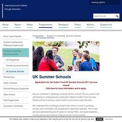 UK Summer Schools
