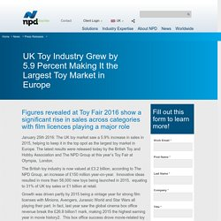 UK Toy Sale 2015 - NPD Group UK