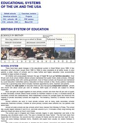 UK, USA - schools