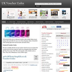 UK Voucher Codes | Discount Vouchers | Discount Codes