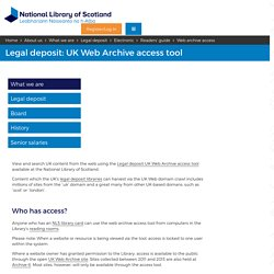 UK Web Archive access tool
