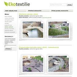 ukázky realizací – Ekotextilie