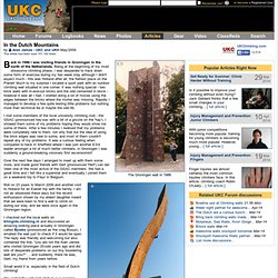UKC Articles - In the Dutch Mountains