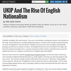 UKIP and the Rise of English Nationalism