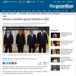 Ukraine ceasefire agreed at Belarus talks