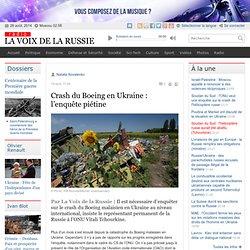 Crash du Boeing en Ukraine : l'enquête piétine