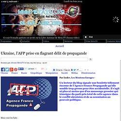 Ukraine, l'AFP prise en flagrant délit de propagande