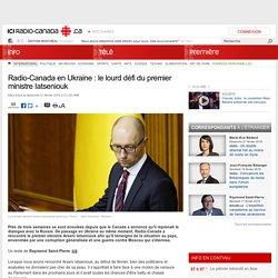Radio-Canada en Ukraine : le lourd défi du premier ministre Iatseniouk