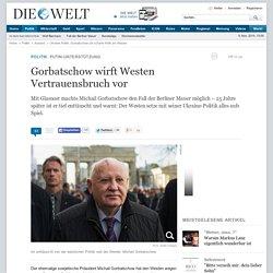 Ukraine-Politik: Gorbatschow übt scharfe Kritik am Westen