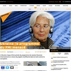 Ukraine: le programme du FMI menacé