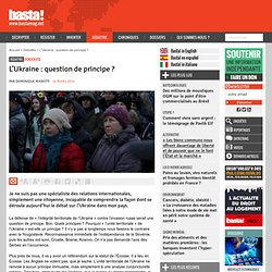 L'Ukraine : question de principe ?