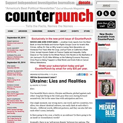 Ukraine: Lies and Realities