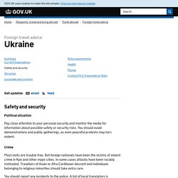 Ukraine travel advice - GOVUK