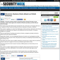 Ukrainian Hackers Claim Attack on Polish Websites