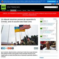 Un député ukrainien promet de reprendre la Crimée, avec le soutien des Etats-Unis
