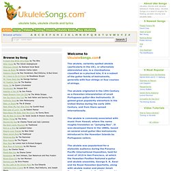 Ukulele Songs, Tabs, Ukulele Chords and Lyrics - UkuleleSongs.com