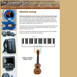 Ukulele tuning and string tensions