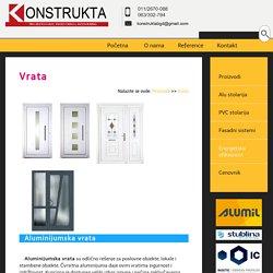 Alu vrata,PVC vrata,Ulazna vrata,Ulazna vrata cene,Konstrukta doo,Beograd