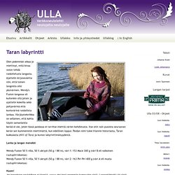 Ulla 03/08 - Ohjeet - Taran labyrintti