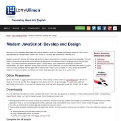 Modern JavaScript: Develop and Design
