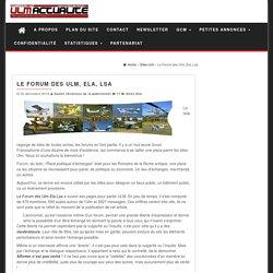 ULM Actualité » Sites Ulm » Le Forum des Ulm, Ela, Lsa
