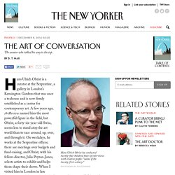 Hans Ulrich Obrist, the Curator Who Never Sleeps