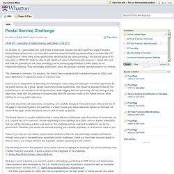 Karl Ulrich Wikis / Postal Service Challenge