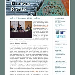 Ultima Ratio » Anders F. Rasmussen à l'Ifri : un bilan
