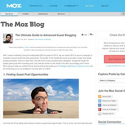 The Ultimate Guide to Advanced Guest Blogging