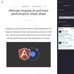 Ultimate AngularJS and Ionic performance cheat sheet