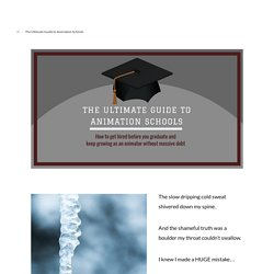 The Ultimate Guide to Animation Schools