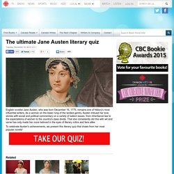 The ultimate Jane Austen literary quiz