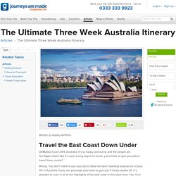 The Ultimate 3-Week Australia Itinerary - Gap Year