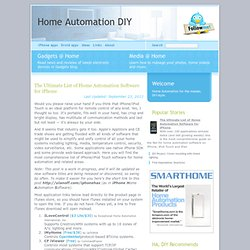 The Ultimate List of Home Automation Software for iPhone