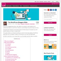 The Ultimate Blogger's Guide to WordPress