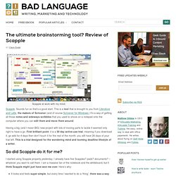 The ultimate brainstorming tool? Review of Scapple