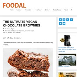 The Ultimate Vegan Brownie Recipe (With Optional Walnuts)