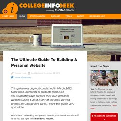 The Ultimate Guide To Building A Personal Website