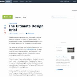The Ultimate Design Brief