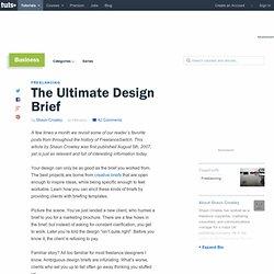 The Ultimate Design Brief