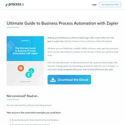 The Ultimate Guide to Business Process Automation using Zapier