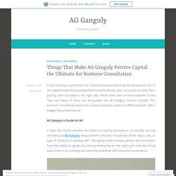 Things That Make AG Ganguly Potrero Capital the Ultimate for Business Consultation