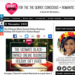 The Ultimate Black-Owned Online Business Holiday Gift Guide (U.S. Online Shops)