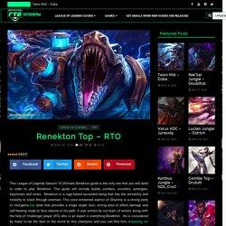 Renekton Top Guide - RTO Academy
