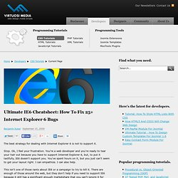 Ultimate IE6 Cheatsheet: How To Fix 25+ Internet Explorer 6 Bugs